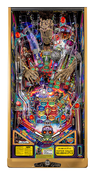 GUARDIANS OF THE GALAXY LIMITED EDITION PINBALL Image - Click To Enlarge