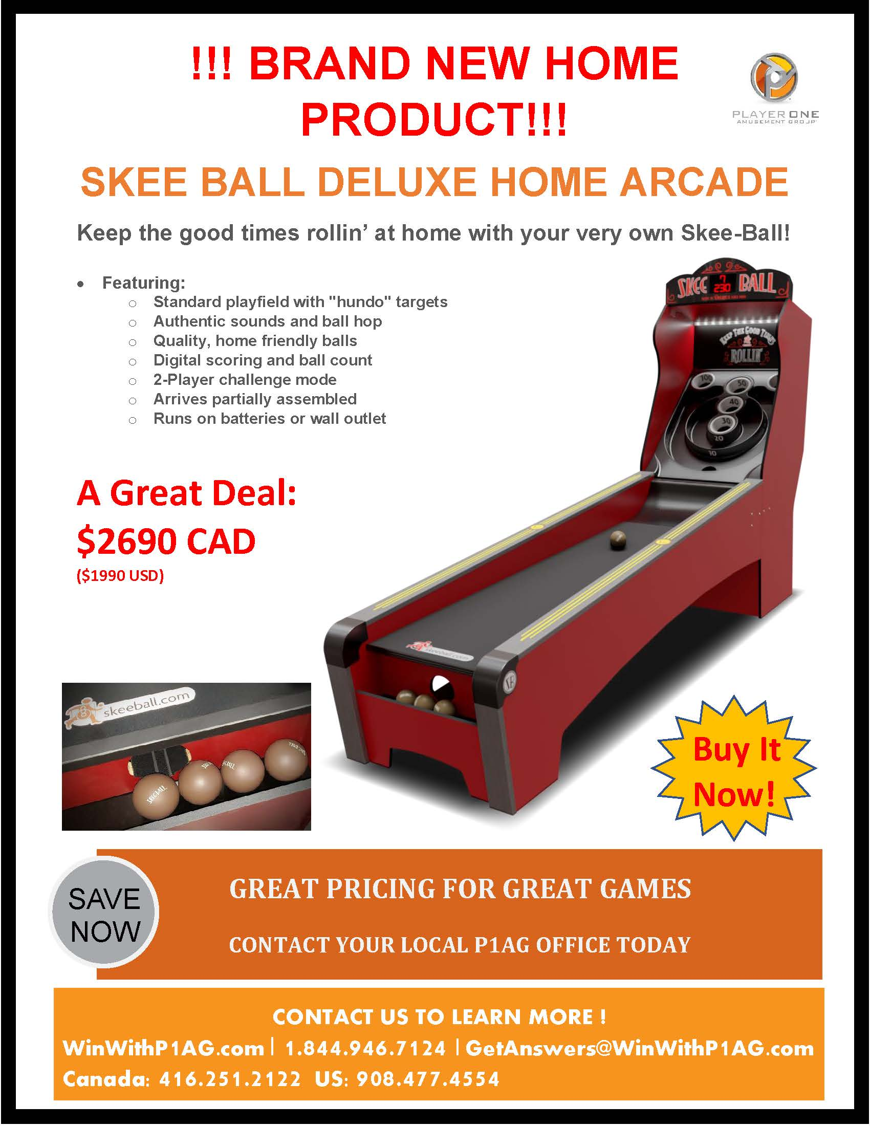 Skee Ball Home Arcade Deluxe Edition