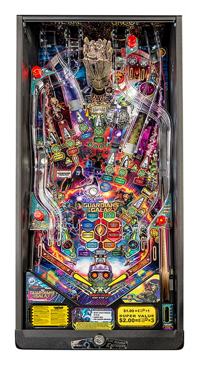 GUARDIANS OF THE GALAXY PRO PINBALL - Full Sized Preview