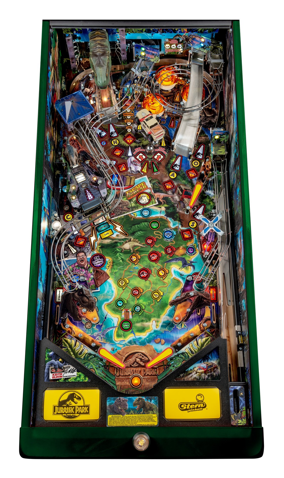 JURASSIC PARK LIMITED EDITION PINBALL Image - Click To Enlarge