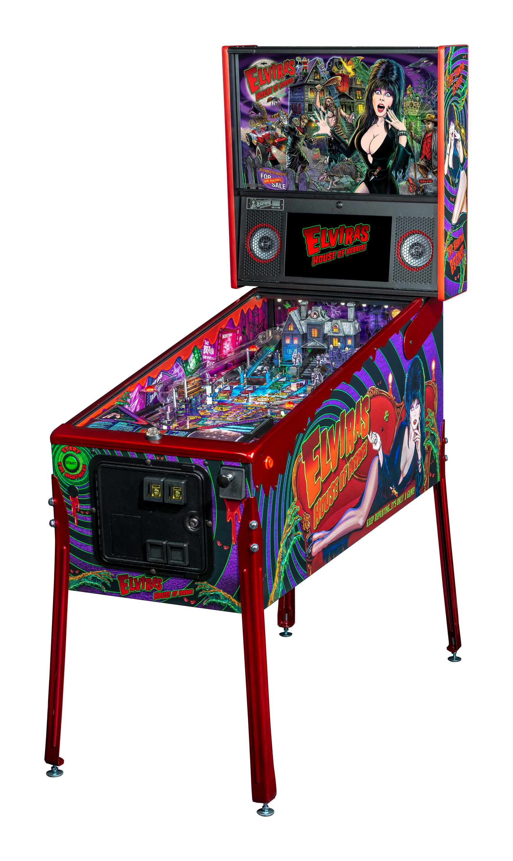ELVIRA LIMITED EDITION PINBALL - Full Sized Preview