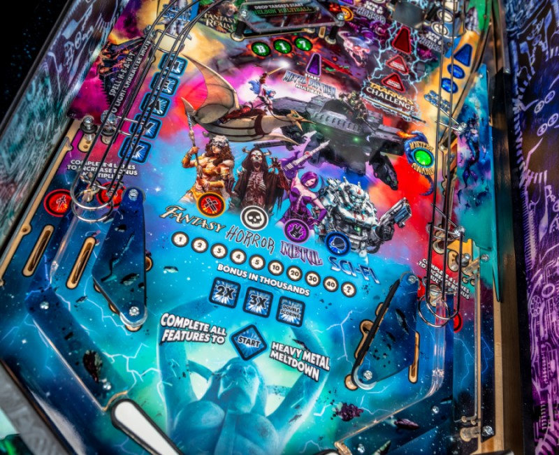 HEAVY METAL LIMITED EDITION PINBALL Image - Click To Enlarge