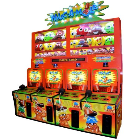 WHAC-A-MOLE 4-UNIT COMBINATION Image - Click To Enlarge