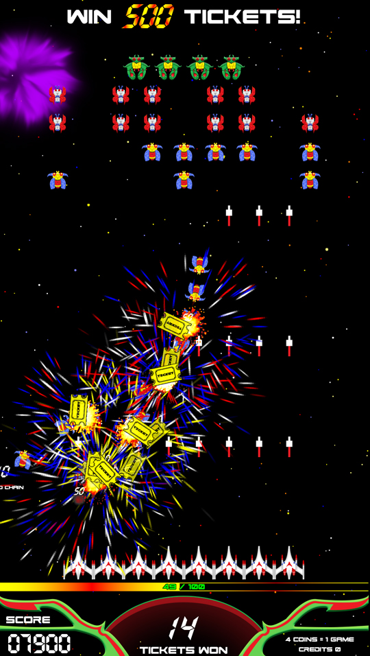 player one amusement group product details galaga assault